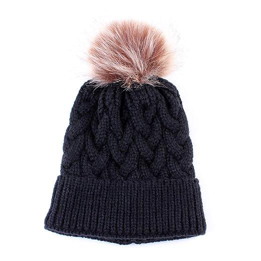 Yinuoday Baby Knit Hat Cap Winter Warm Wool Infant Toddler Kids Crochet Beanie  Cap New ( 4f505e3e286