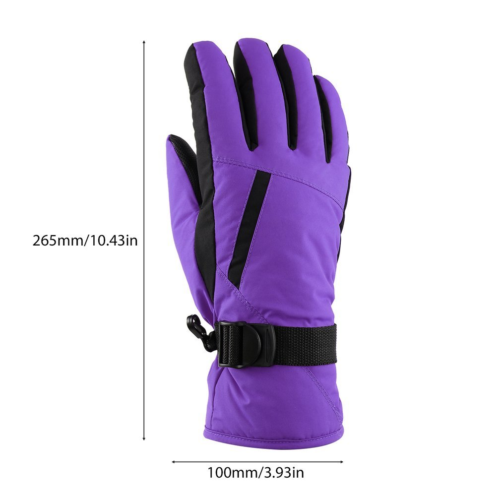 Women\'s Waterproof Windproof Ski Gloves for Skiing, Snowboarding,Cycling and Other Winter Sports Glove with Windproof Thermal Shell & Synthetic Leather Palm