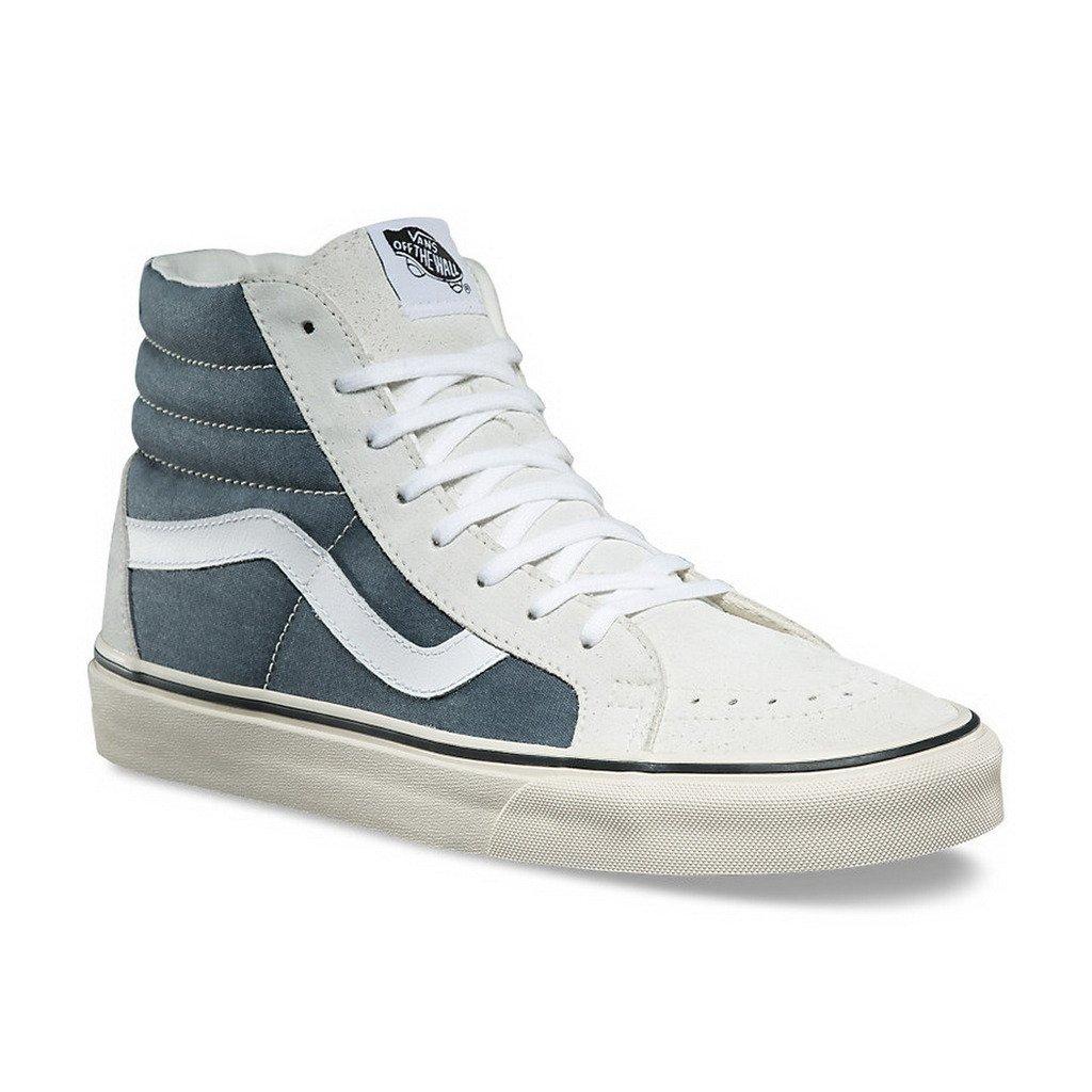 be9affd0b62dc0 Galleon - Vans SK8-HI Reissue Womens 9 Mens 7.5 Vintage White Navy Blue  Skate Shoes
