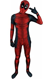 HOT Avengers Halloween Lycra Spandex Full Body Deadpool Cosplay Costume New