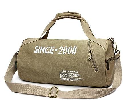 f2e88cb687 Borsa Borsone trolley da viaggio, borsa da palestra in tela, stile retrò,  misura media, ...