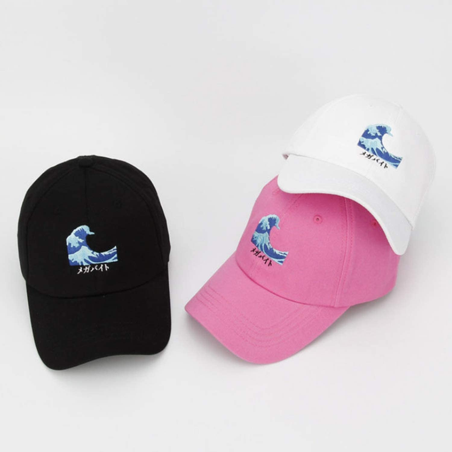 New Sea Wave Cotton Adjustable Embroidery Baseball Cap Baseball Hat Men and Women Dad Hat