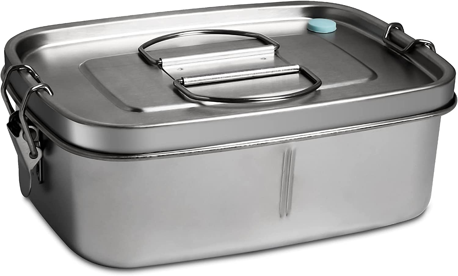 Afranti Stainless Steel Bento Lunch Box, Leak-Proof Bento Lunch Container for Kids Stainless Steel Bento Lunch Box for Adults Bento Box for Sandwich, Pasta and Fruit, Perfect for Work School Lunch