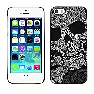Impact Case Cover with Art Pattern Designs FOR iPhone 5 / 5S Skull Pattern Ink Death Tattoo Rock Metal Betty shop