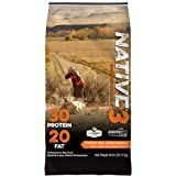 Native Performance Dog Food Level 3 30:20 Chicken Meal and Rice Formula, 40-Pound