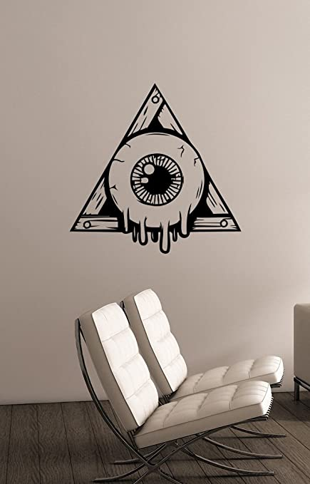 All Seeing Eye of Providence Symbol Wall Sticker Freemason