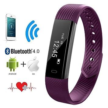 Qimaoo - Rastreador de actividad física con monitor de frecuencia cardíaca