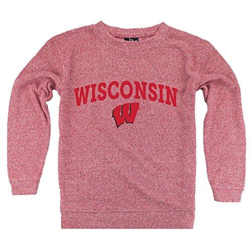 boxercraft Wisconsin Badgers NCAA Women's Cozy Crewneck - Red, Womens Large