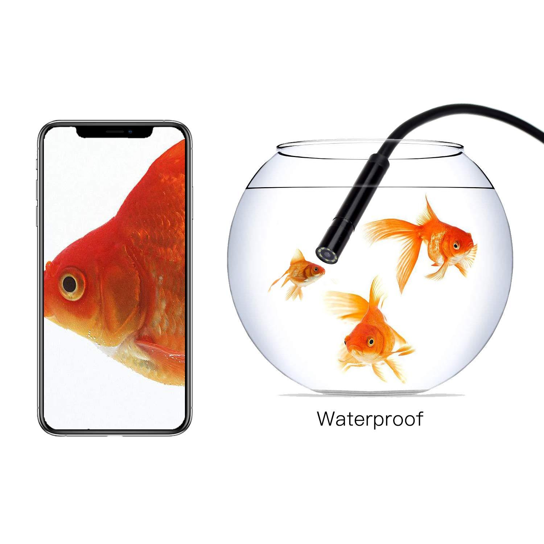 Samsung WGCC 1200P WiFi Endoscope Inspection Camera HD Semi-Rigid Borescope Camera for Android /& iPhone Wireless Endoscope Tablet -Black 16.5FT//5M