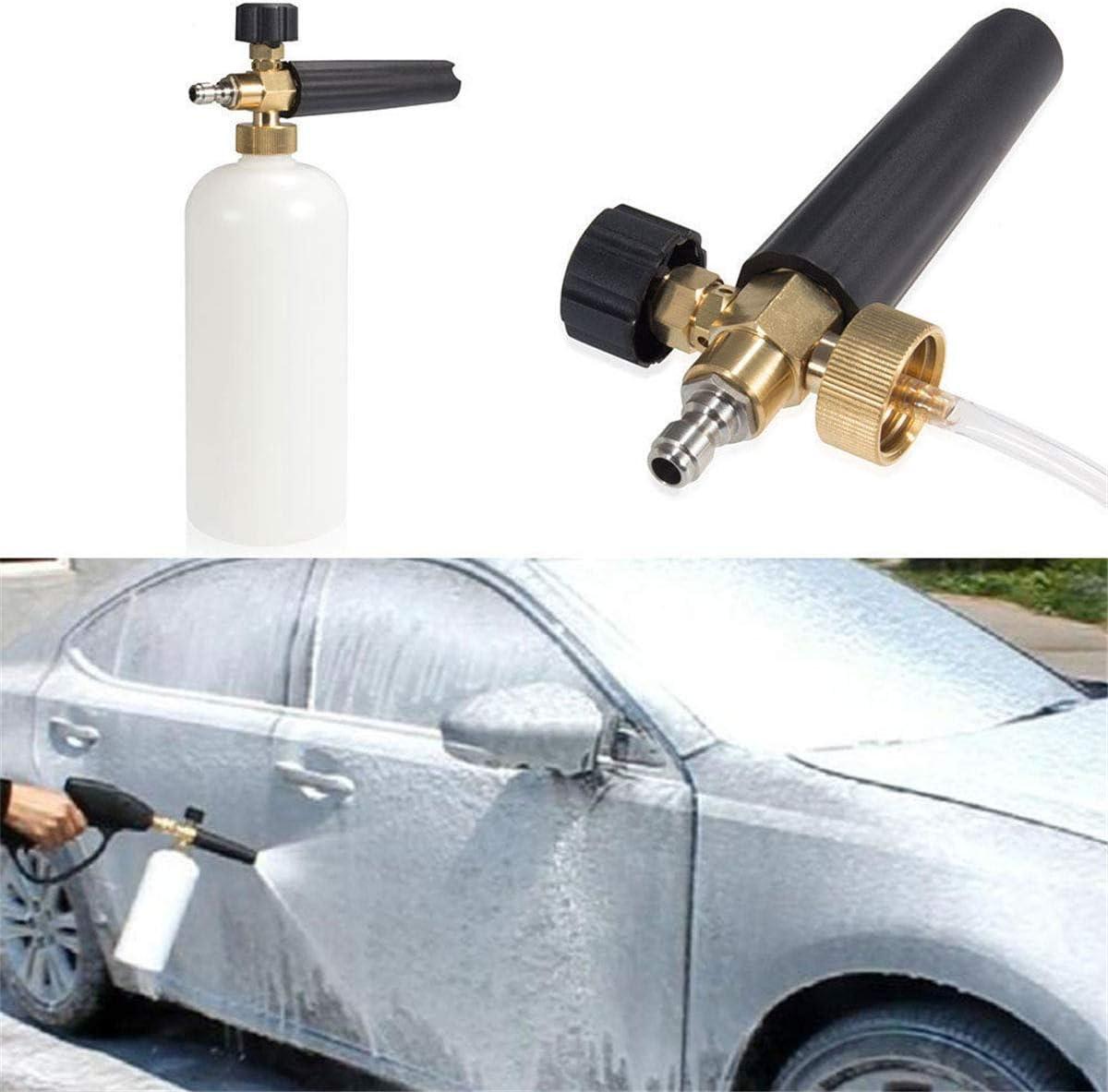 """1//4/"""" Snow Foam Lance Cannon Washer Gun Soap Bottle Pressure Car Foamer Wash Jet"""