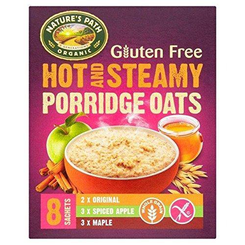 (Natures Path Gluten Free Organic Hot & Steamy Porridge Oats - 8 per pack)