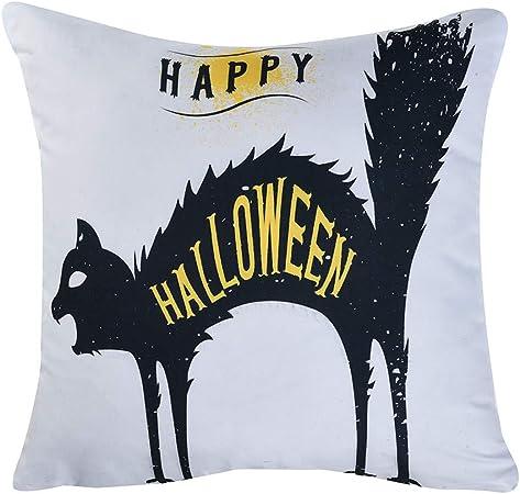 MAYOGO Fundas Cojines Decorativos 45x45 Estampado Halloween Decoracion Hogar Fundas para Cojines de Sofa Pack Oferta Funda de Cojin Letras: Amazon.es: Hogar
