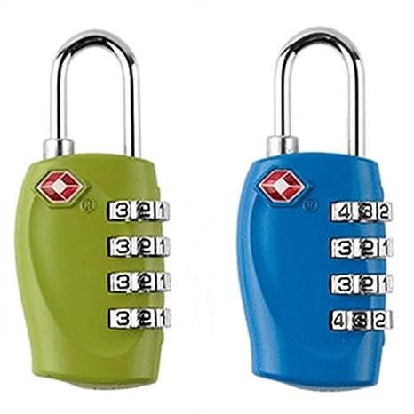 JWPCEU TSA Aprobado cerraduras de combinación de 4 dígitos – resistente y de alta candado de