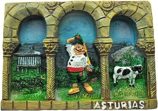 Asturias España Refrigerador Imán 3D Travel Sticker Souvenirs Collection, Decoración del hogar y de la cocina, Imán del refrigerador de España de China: Amazon.es: Hogar