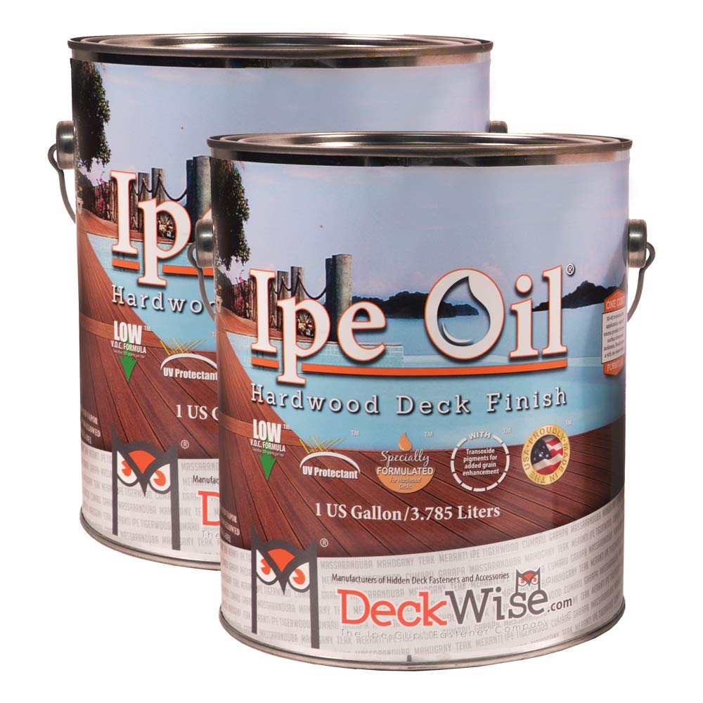 Deckwise ipe oil hardwood deck semi transparent 250 voc natural finish 1 gallon household wood stains amazon com