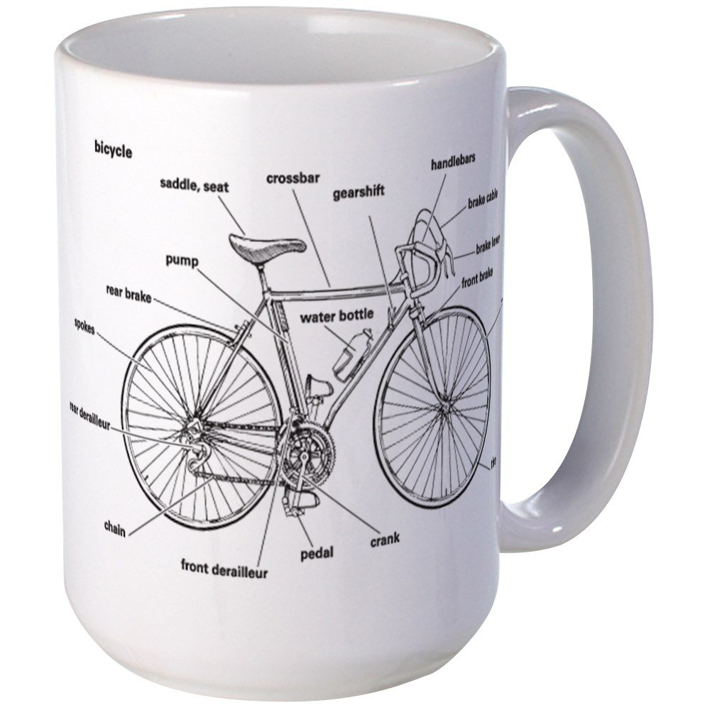Bike Pump Anatomy Bicycle Diagram And Parts List For Sears Bicycleparts Model Cafepress Mugs Coffee Mug Large Oz White Cup Kitchen Dining 1000x1000