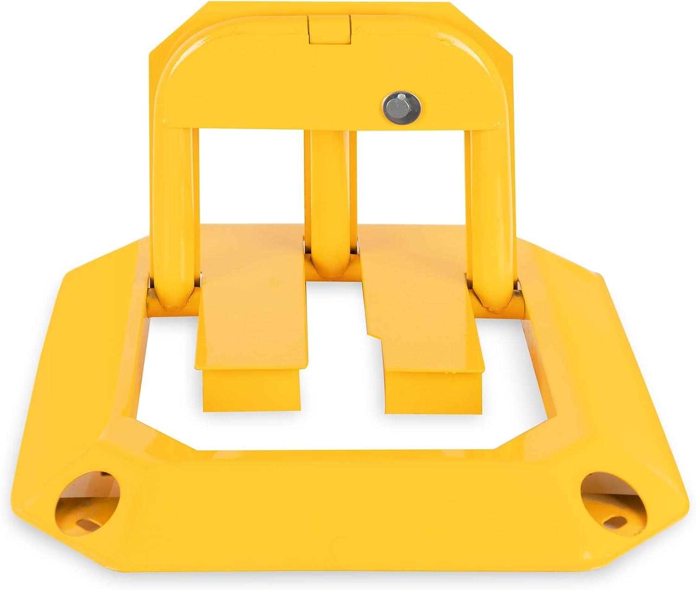Klappbare Parkplatzsperren 3 Schl/üssel inklusive Stagecaptain PPS-30 Parkplatzschloss 10er Set Spar-Set mit 10 St/ück Abschlie/ßbar - Aus robustem Stahl Gelb