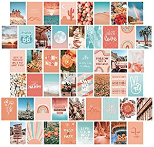 Artivo Peach Teal Aesthetic Wall Collage Kit