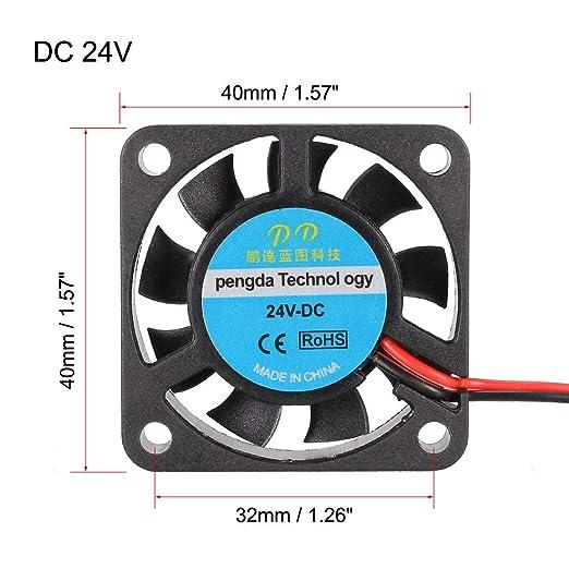 uxcell - Ventilador de refrigeración para impresora 3D extrusora ...