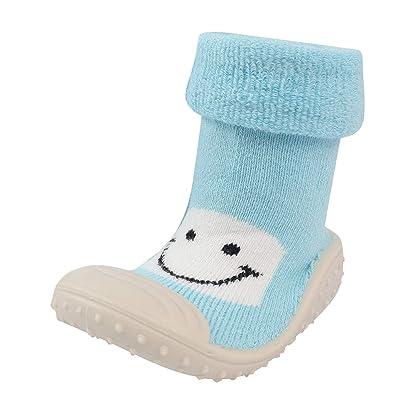 Newborn Baby Infant Toddler Girls Boys Solid Winter Warm Prewalker Socks Shoes