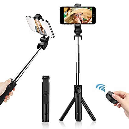 faf533168ec41d Selfie Stick Bluetooth, Extendable Selfie Stick Tripod with Wireless Remote  for iPhone X/iPhone