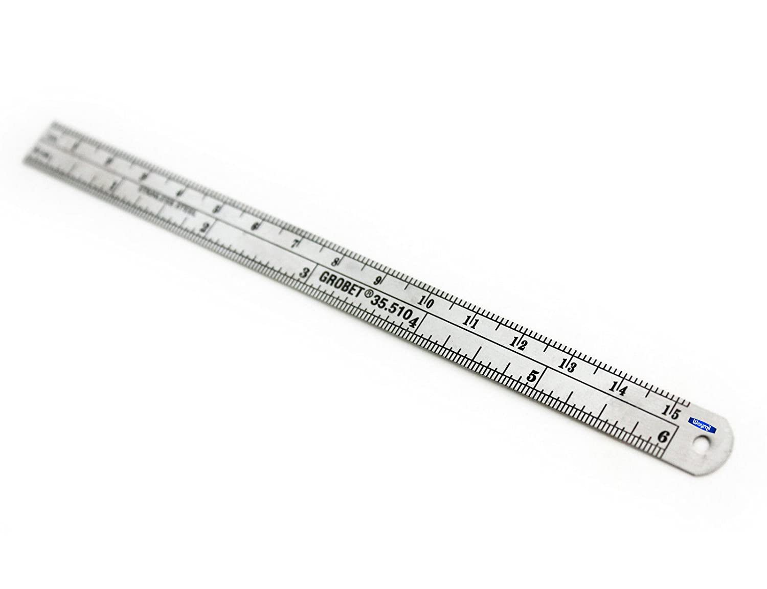 STEEL RULER 6 JEWELRY MAKING TOOL SIZER INCH AND MM Unbranded