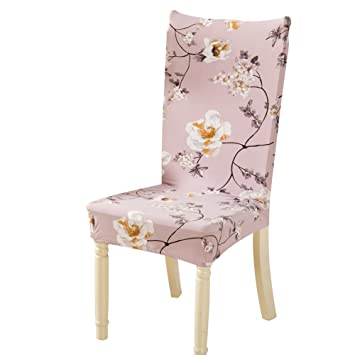 Zibuyu Removable Conjoined Stretchy Floral Home Stool Chair Seat Cover (6#)