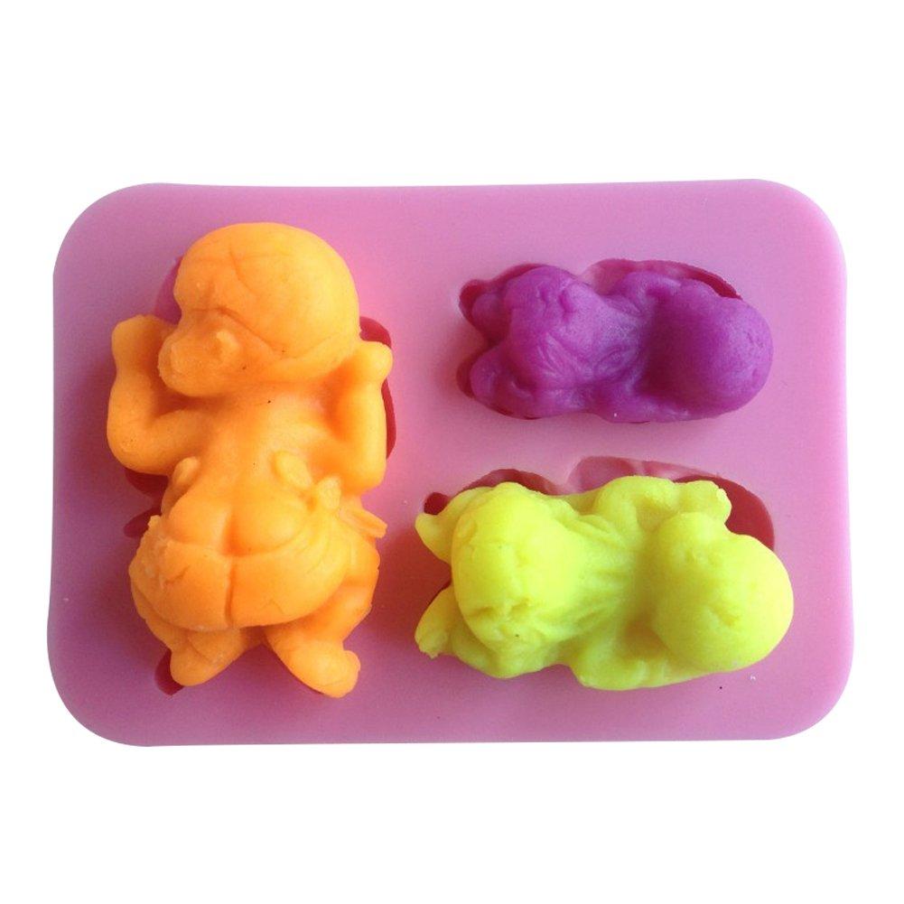 Karen Baking Forma de bebé del silicón 3D molde de pastel para la torta pasta de azúcar que adorna C026