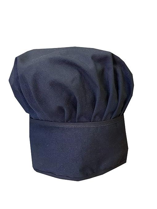 Trama Toscana Cappello Cuoco Uomo Nero in Cotone 100% con possibilità di  abbinarlo ai Nostri e1454e3c39d5
