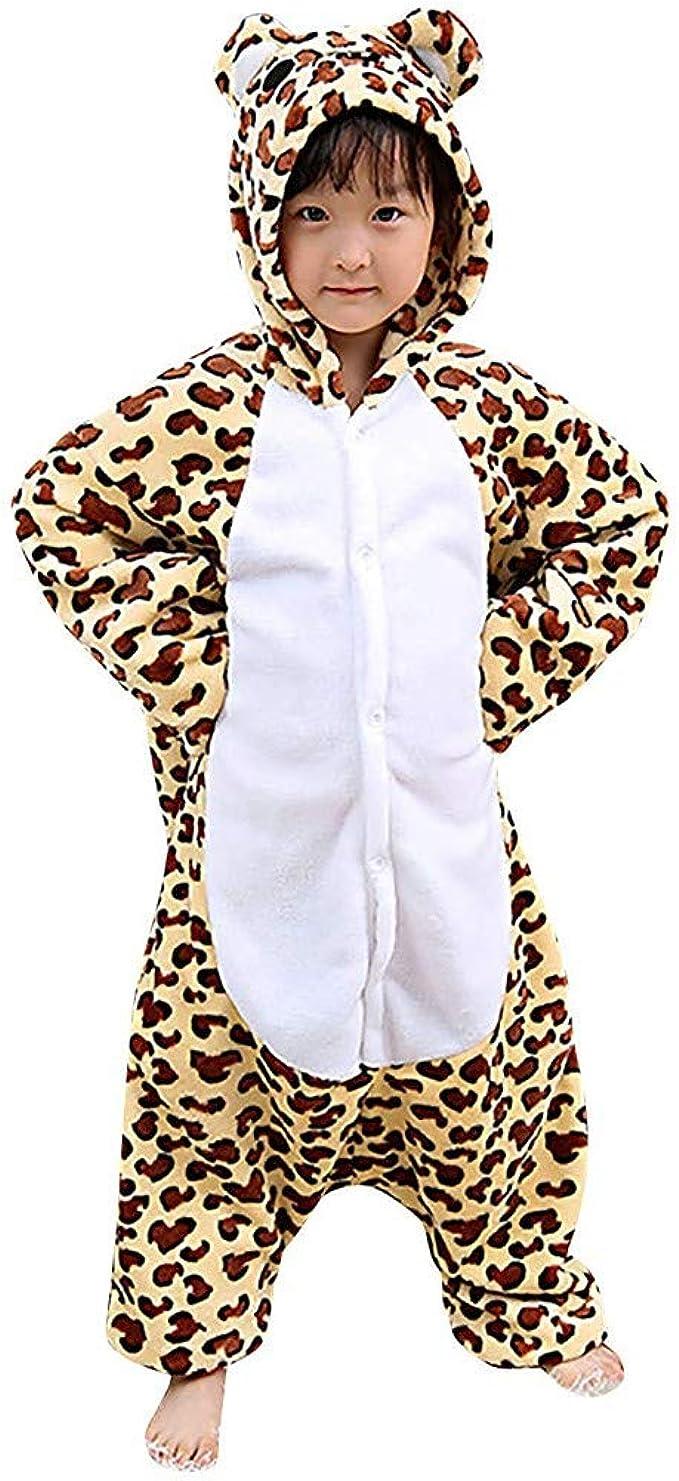 ManlinG7* Pyjama Combinaison Enfant Fille Gar/çons Cosplay Costume D/éguisement Carnaval Onesie V/êtements de Nuit en Flanelle Peignoir de Bain D/écontract/ée Classique Robe de Chambre