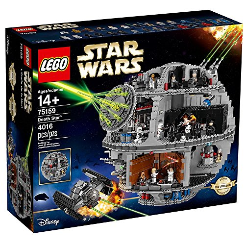 LEGO Star Wars Death Star 75159 Space Station Building Kit with Star Wars Minifigures for Kids and Adults (4016 Pieces)]()