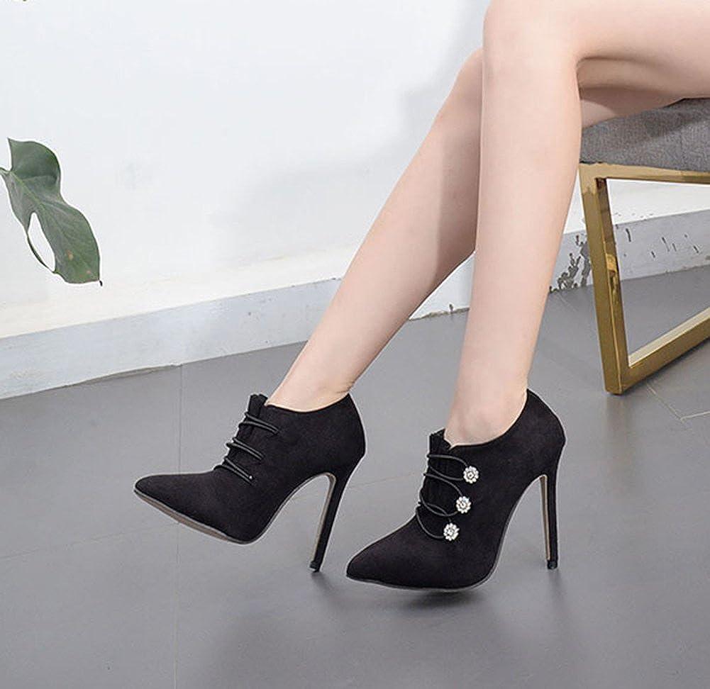 Aisun Damen Elegant Strass Blaumen Knopf Spitz Zehen Stiletto Stiletto Stiletto High Heels Knöchelstiefel 100133