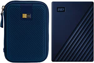 WD 4TB My Passport for Mac USB 3.0 External Hard Drive (Midnight Blue) + Case