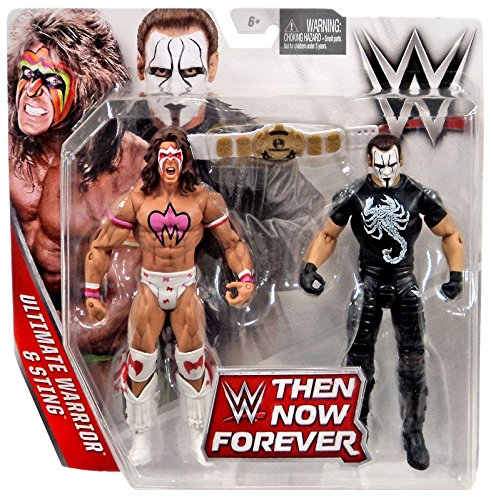 WWE, Basic Series, 2016 Then Now Forever, Ultimate Warrior and Sting Action Figures (Wwe Action Figures Sting compare prices)