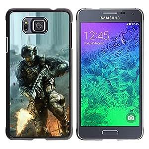 Be Good Phone Accessory // Dura Cáscara cubierta Protectora Caso Carcasa Funda de Protección para Samsung GALAXY ALPHA G850 // Soldier Game