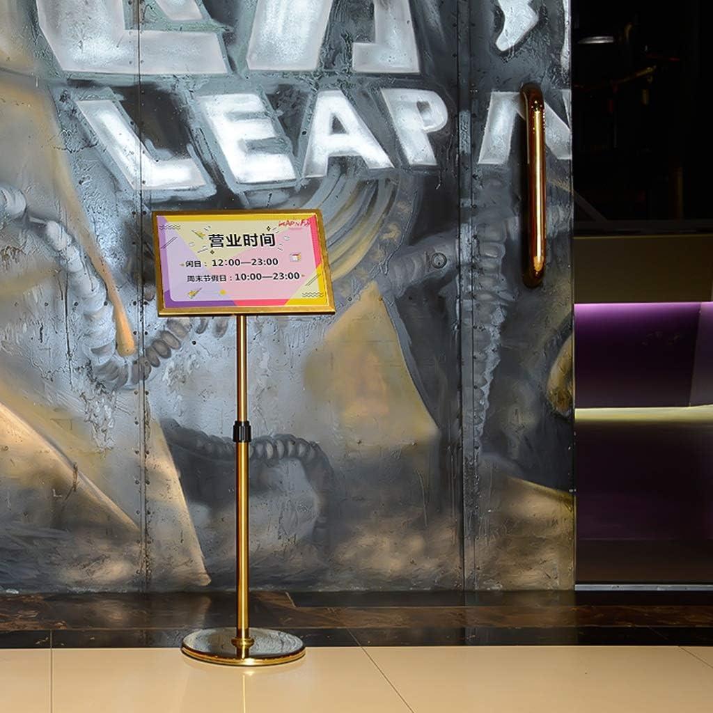 YUAN-Werbegestell A3 einstellbares Plakatst/ä nder-Anzeige-Schnellrahmen-Zeichen-Anzeigen-Halter-Boden Farbe : Gold
