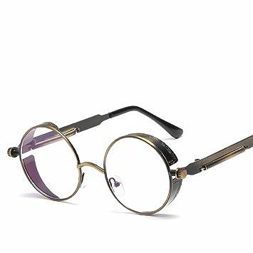 runder rahmen-metall-sonnenbrille Personifizierte Frühlingsspiegel-Beine reflektierende helle farben-damen Retro- sonnenbrille heller schwarzer rahmen XGSAAsM