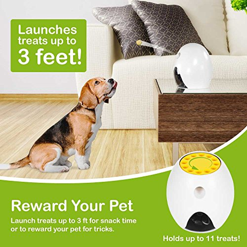 FUNPAW Q Cat & Dog Treat Dispenser w/Toy Laser: Monitor from Anywhere w/the App, 720p Hi-Res Pet Camera & 2-Way Audio by FUNPAW (Image #3)
