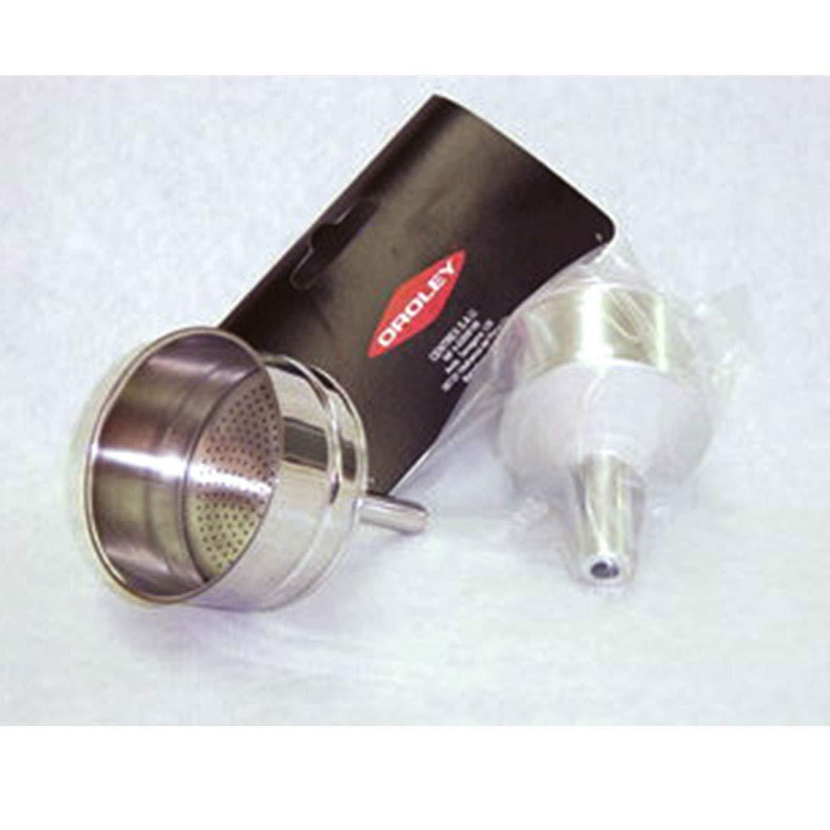 Plateado 21x20x14 cm ORYX Embudo Cafetera Inducci/ón 2 Tazas Aluminio