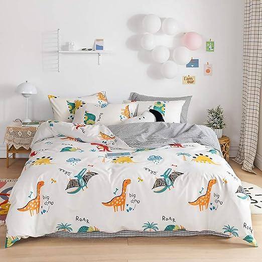 Amazon.com: Cute Dinosaur Duvet Cover Kids Twin Dinosaur Bedding