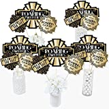 Big Dot of Happiness Roaring 20's - 1920s Art Deco Jazz Party Centerpiece Sticks - Table Toppers - Set of 15