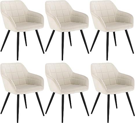 Esszimmerstuhl Küchenstuhl Polsterstuhl Stuhl Stühle mit Armlehne Samt Grau