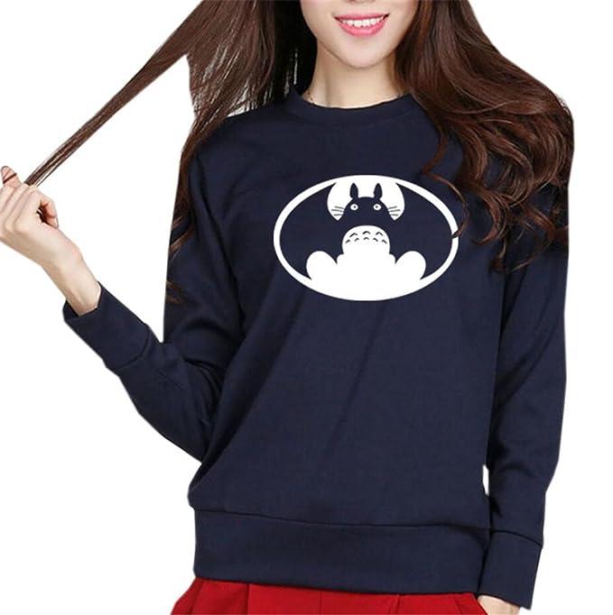 COCO clothing Sudaderas Anime Estampado de Mujer Casual Camisetas de Manga Larga Redondo Pullover Otoño Universidad Jersey Sweatshirt Juvenil: Amazon.es: ...