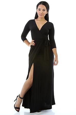 3f7f595be3b1 GITI ONLINE Stunning Maxi Dress Black at Amazon Women s Clothing store