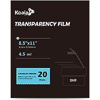 Koala OHP Film Overhead Projector Film 8.5x11 Inch Single Side Printing Film for Inkjet Printer