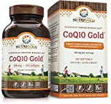 NutriGold CoQ10 Gold (High Absorption with KanekaQ10) - 100 Milligrams (120 Softgels)