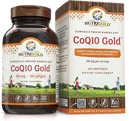NutriGold CoQ10 Gold (High Absorption with KanekaQ10) - 100 Milligrams (120 Softgels) ()