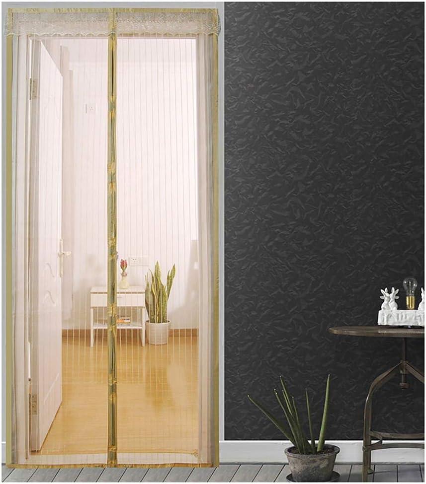Cortinas de mosquitera antimosquitos y moscas de la casa de verano cierran automáticamente la cortina de la cocina de la pantalla de la puerta A3 W80xH210