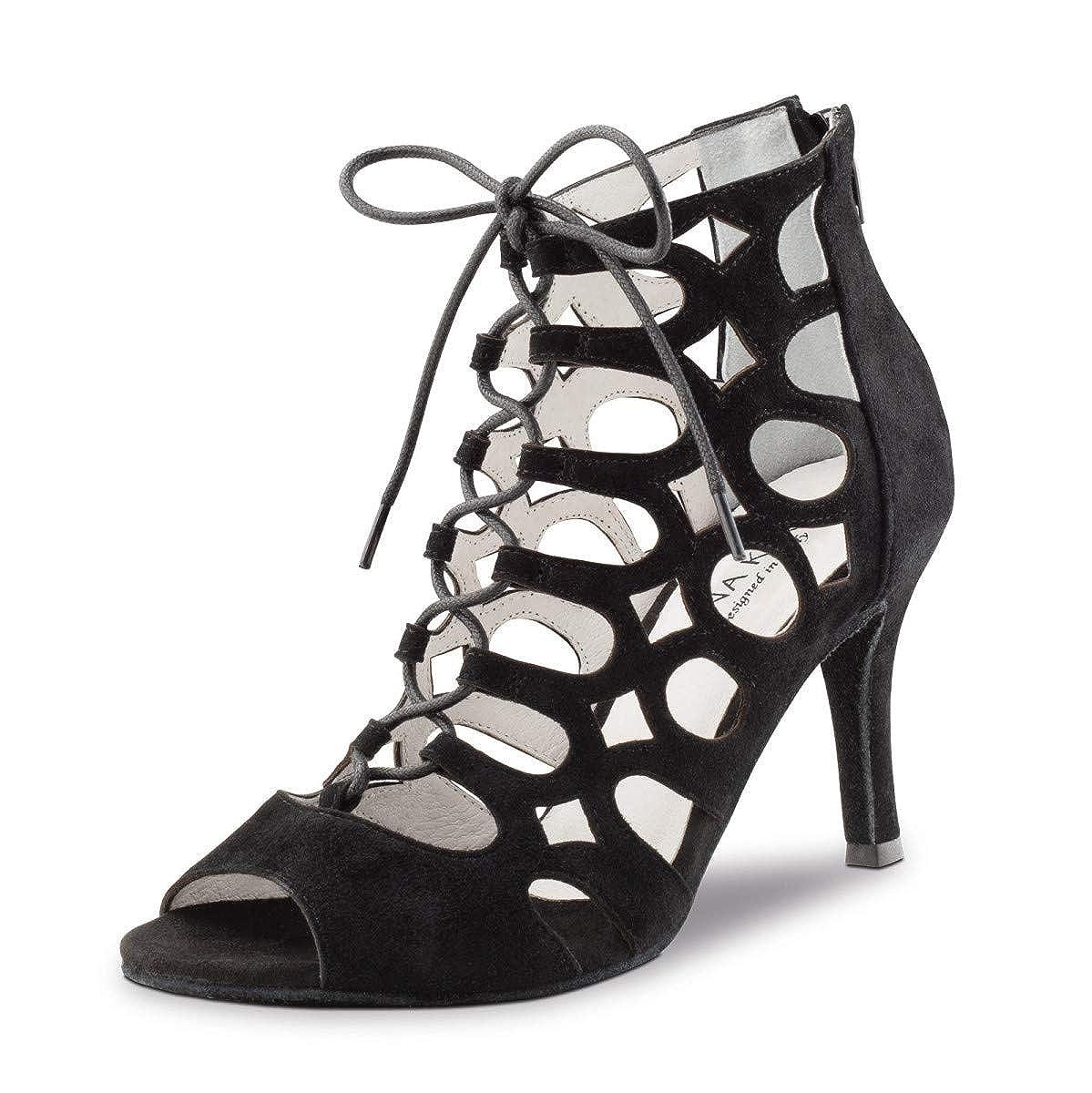 Anna Kern Femmes Chaussures de Danse 835-75 - Suéde Noir - 7,5 cm Stiletto