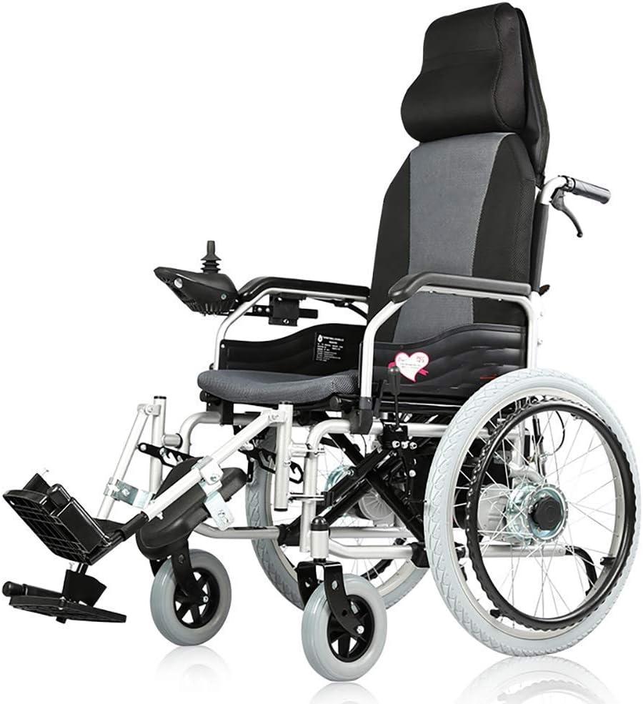 MZLJL - Silla de ruedas eléctrica, inteligente, plegable, eléctrica, ligera, duradera, para personas con discapacidad o personas mayores, silla cómoda y eléctrica
